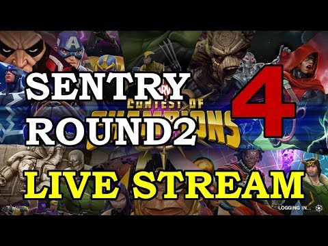 connectYoutube - Sentry 4-Star Arena Round 2 - Part 4   Marvel Contest of Champions Live Stream