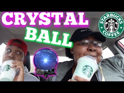 connectYoutube - TRYING NEW STARBUCKS CRYSTAL BALL DRINK + Taco Bell Nacho Fries and more