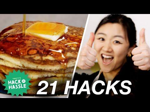 I Tested 21 Pancake Hacks In A Row ? Tasty