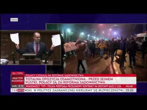 Skandaliczne zachowanie posła PO Michała Szczerby podczas wystąpienia w Sejmie