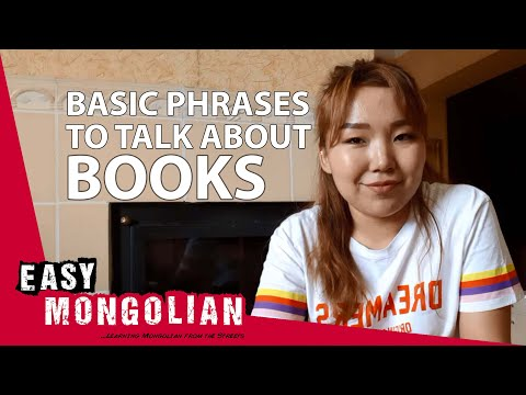 How to make a conversation about books in Mongolian | Super Easy Mongolian 1 photo