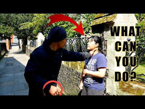 How to Survive Violent Attacks frontal choke against a wall Part 2 | Women's Self Defense