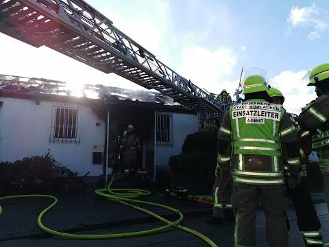 Dachstuhlbrand in Enzberg