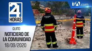 Noticias Ecuador: Noticiero 24 Horas, 18/09/2020 (De la Comunidad Segunda Emisión)