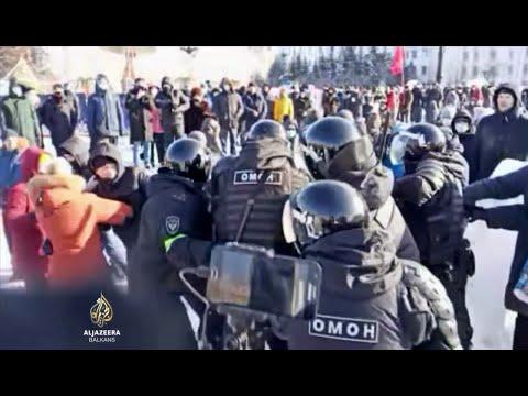 Demonstranti širom Rusije traže oslobađanje Navalnog
