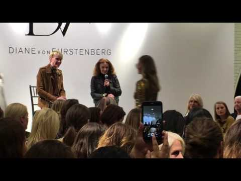 Diane von Furstenberg and Ken Downing At Neiman Marcus Michigan Avenue