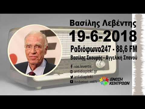 Β. Λεβέντης : Δεν είναι συμφωνία της Ελλάδας αυτή / Ραδιόφωνο 247 / 19-6-2018