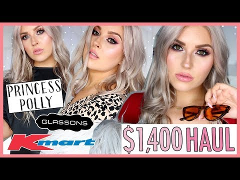 MASSIVE TRY-ON CLOTHING HAUL ?? PRINCESS POLLY, K-MART & GLASSONS