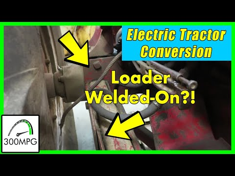Electric Tractor Conversion: Prepping for loader removal