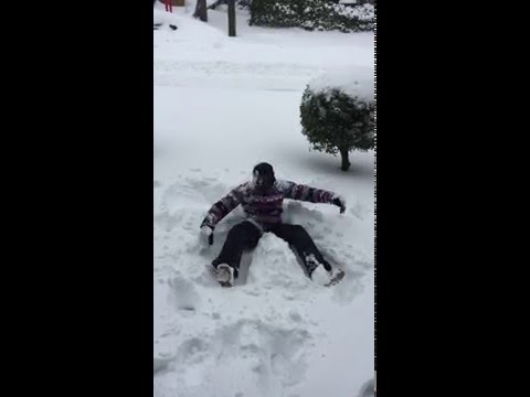 Snowzilla Snow Angel 2016