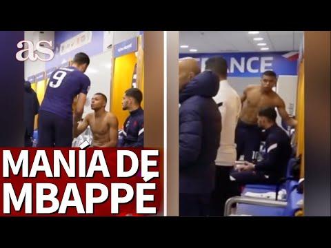 Pillan una de las mayores manías de Mbappé: atentos a lo que hace tras acercarse Giroud...