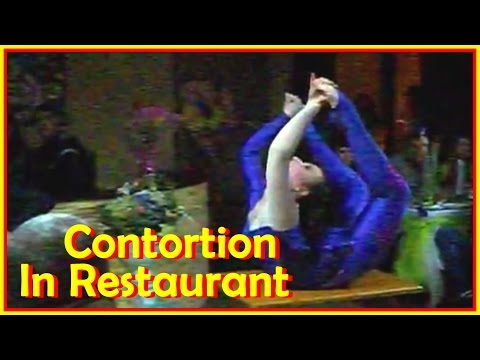 Contortion Show In A Restaurant And Some Other Contortion Demos