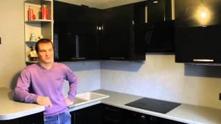 Отзыв клиента | Кухни «ЭльКонфорте» | МДФ Краска Черный Глянец