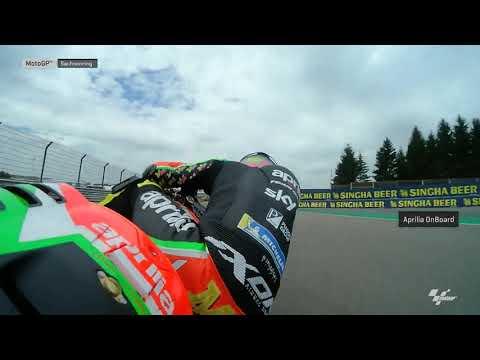 Aprilia Racing Team Gresini OnBoard: HJC Helmets Motorrad Grand Prix Deutschland