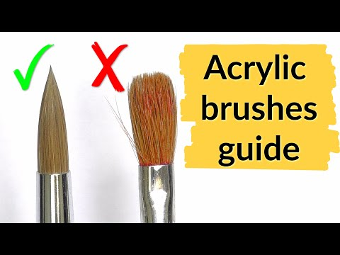 Acrylic Nail Brush - Cleaning & Care   Stiletto Tutorial