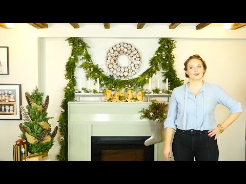 Decorating Your Holiday Mantle: Woodland Greenery