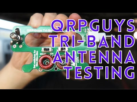 QRPGuys Vertical Tri-Band Antenna Testing (with the DX IDIOT)