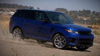 The 550-horsepower Range Rover Sport SVR