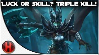 Dota 2 Fails - Luck or Skill? Triple Kill!