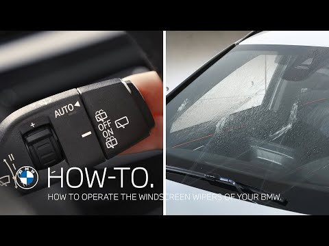 How to operate the windscreen wipers of your BMW – BMW How-To