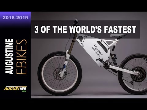 3 of the World's fastest electric bikes  Vector, Wolverine , Blacktrail