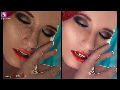 Simple  Skin Retouching Technique  - Smooth Skin - Photoshop Tutorial