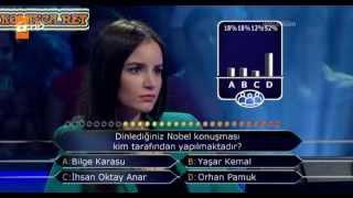 Kim milyoner olmak ister 233. bölüm 08.06.2013 3. yarışmacı