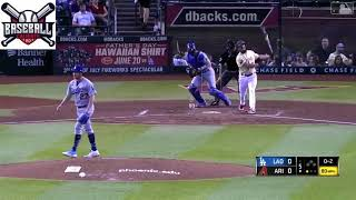 Trevor Bauer dominated the Arizona batters and earned the victory for the Los Angeles Dodgers.