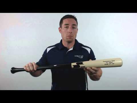 SSK Professional Edge Pro Maple Wood Baseball Bat: 271 Model Natural/Black/Black