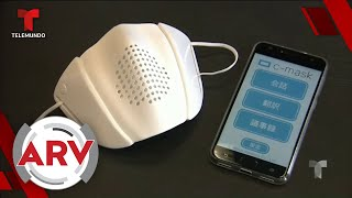 Diseñan mascarilla capaz de conectarse a apps de celulares | Al Rojo Vivo | Telemundo
