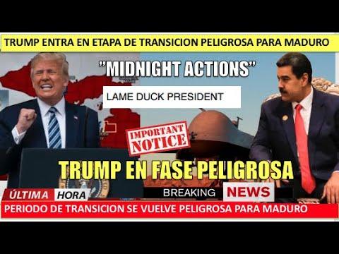 """Trump entra en periodo """"Midnight Actions"""" Maduro uno de sus objetivos"""