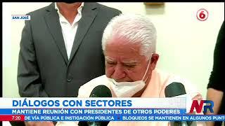 Presidente Alvarado inició diálogos con sectores que no están en protesta nacional