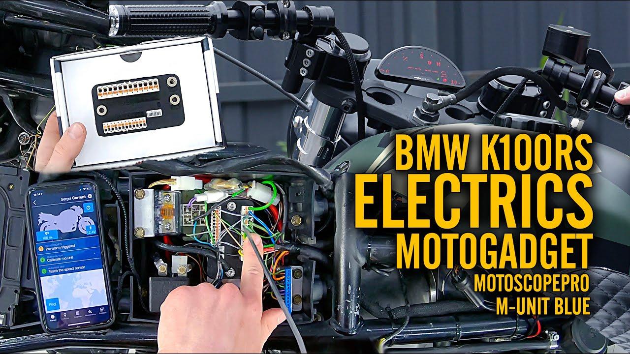 M-Unit Blue & MotoscopePro on BMW K100RS