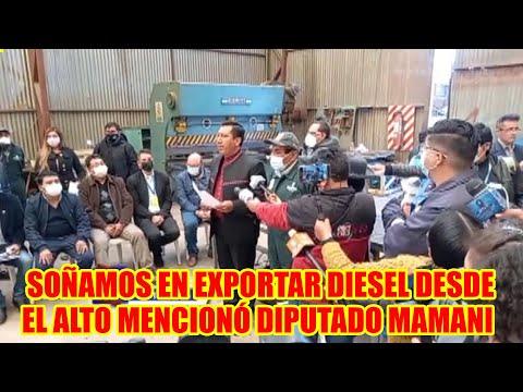 DIPUTADO MAMANI SEÑALA QUE INICIATIVA DE TRANSFORMAR LA BASURA EN ECODIESEL..