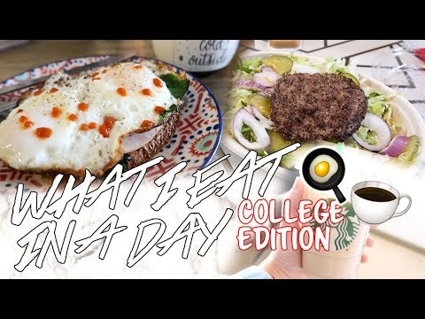 connectYoutube - WHAT I EAT IN A DAY - HEALTHY COLLEGE EDITION | Natalie Barbu