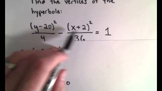 Vertices of a Hyperbola - Easy, Basic Example