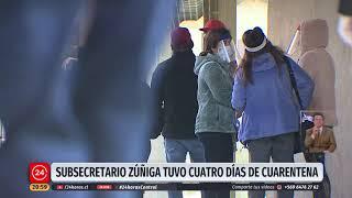 Subsecretario Zúñiga vuelve a trabajo presencial tras cuatro días de cuarentena preventiva