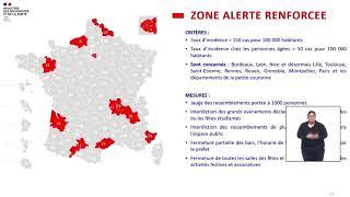 Coronavirus : les nouvelles mesures en zone