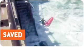 Surfer Saved from Huge Waves | Close Call