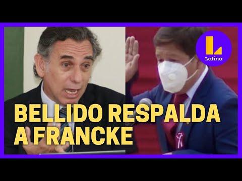 Guido Bellido respalda presencia de Pedro Francke en el Gobierno