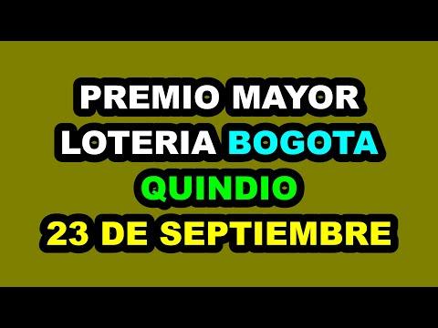 Resultados Lotería de BOGOTÁ y QUINDÍO Jueves 23 de septiembre 2021   PREMIO MAYOR