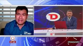 #Telediario   Entrevista a César Litardo, Candidato a la Asamblea