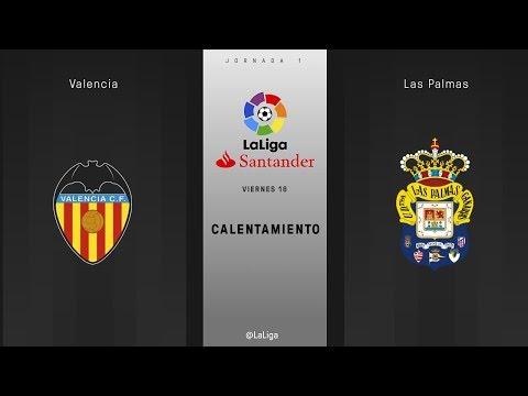 Calentamiento Valencia vs Las Palmas