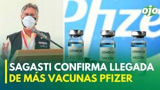 Coronavirus Perú: Francisco Sagasti confirma llegada de más vacunas de Pfizer
