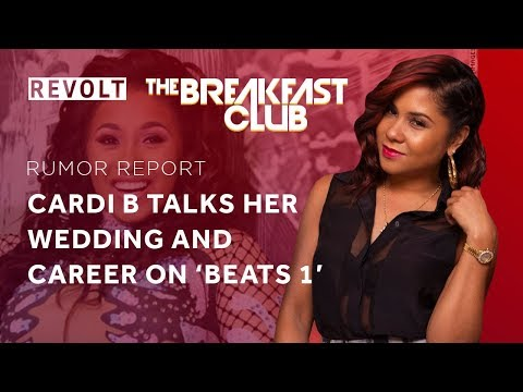 connectYoutube - Cardi B talks about her wedding and career on 'Beats 1' | Rumor Report