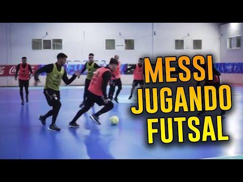 Messi jugando Futsal con la Selección Argentina
