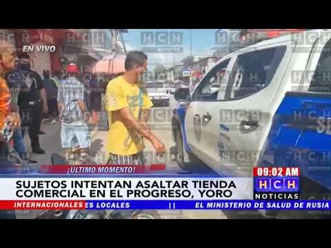 ¡Iban por lana! Frustran asalto a reconocida casa comercial en El Progreso