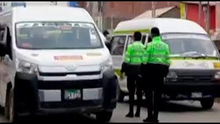 Huancayo: decomisan protectores faciales que cobradores prestaban a pasajeros
