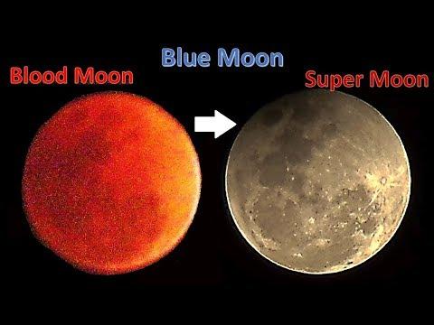 Super Blue Blood Moon - A rare celestial phenomenon