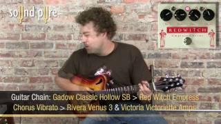 Red Witch Empress Chorus Vibrato W. Gadow Classic Hollow Body SB